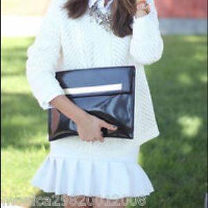 Zara Skirts - ZARA NEOPRENE WHITE FRILL MINI SKIRT NWOT!!
